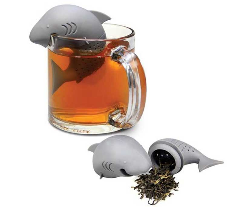 Silicone Shark Infuser Loose Tea Leaf Strainer Herbal Spice Filter Diffuser