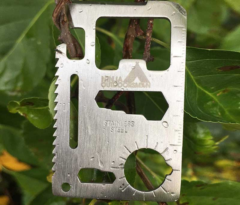 Stainless Steel Credit Card Pocket Sized Survival Multi tool
