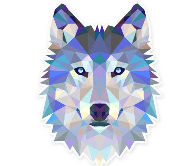 Wolf Modern Art Design Vinyl Sticker