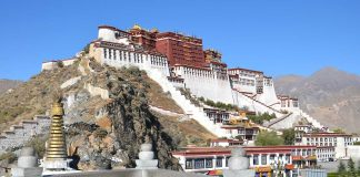 Potala Palace At The Top Of The World