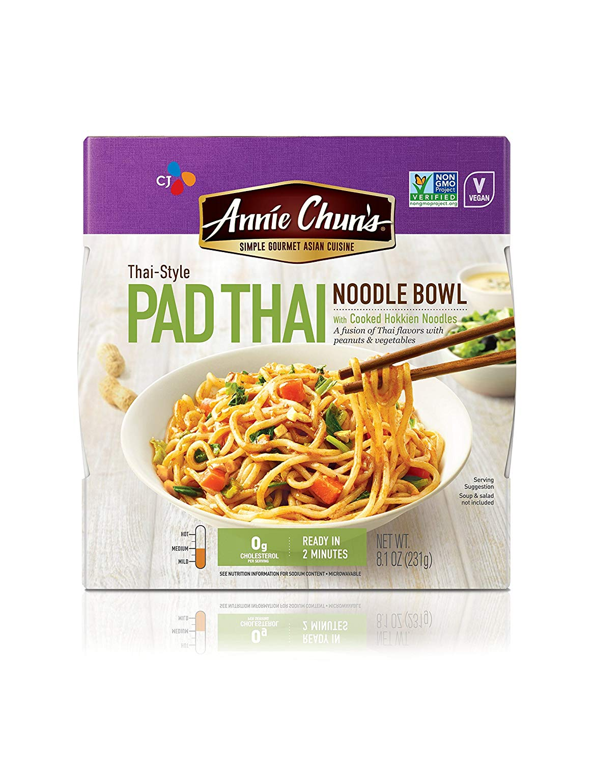 Annie Chun's Pad Thai Noodle Bowl Vegan Microwaveable Ready Meal
