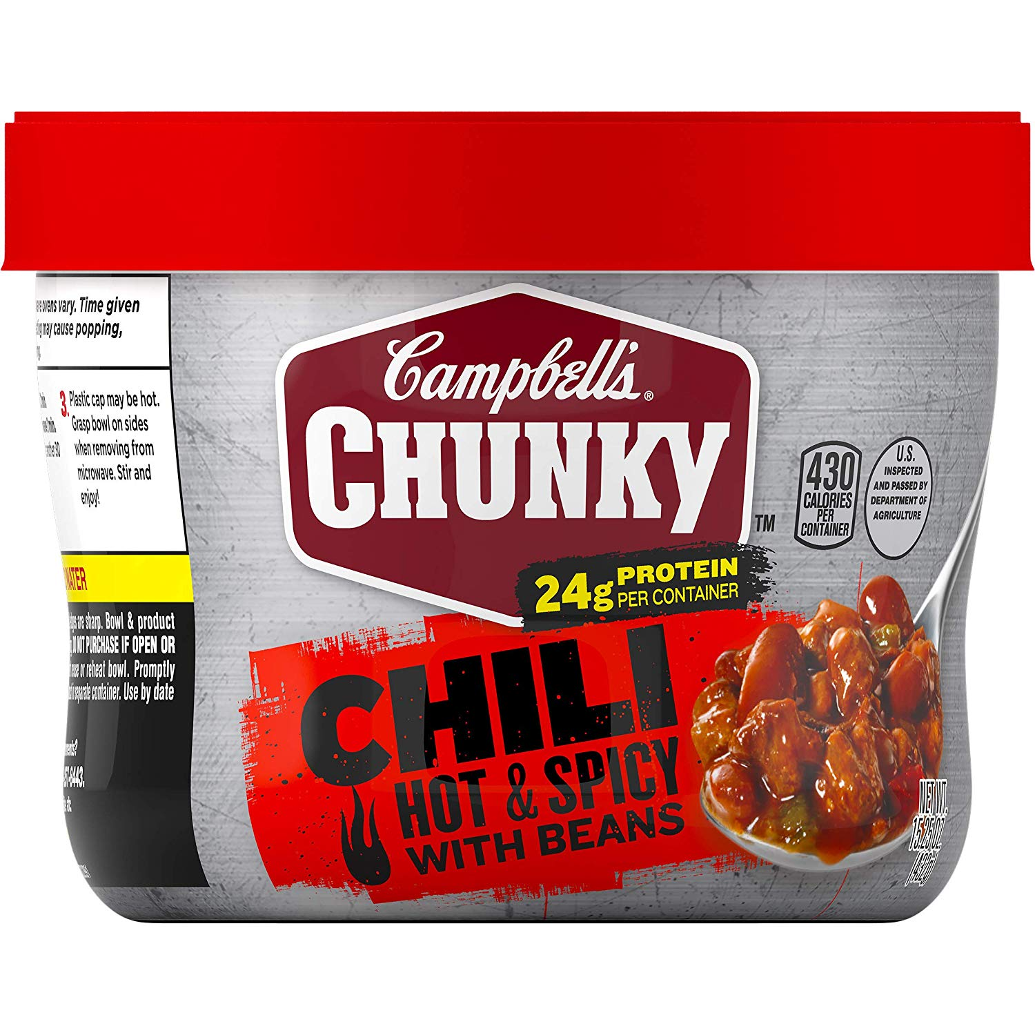 Campbell's Chunky Hot & Spicy Chili with Beans Microwavable Bowl