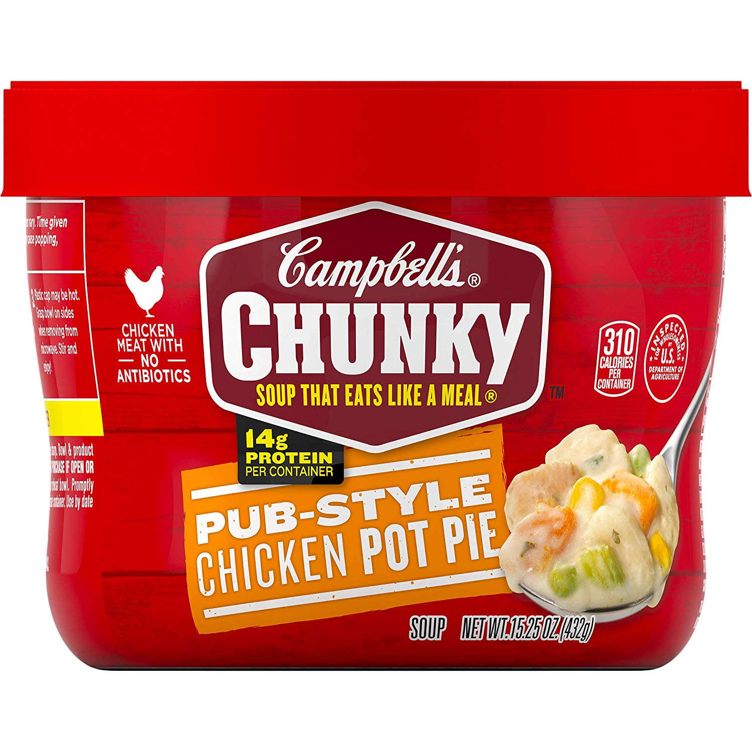 Campbell's Chunky Pub-Style Chicken Pot Pie Soup Microwavable Bowl