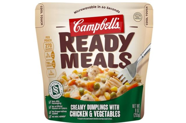 Campbell's Ready Meals, Creamy Dumplings with Chicken & Vegetables