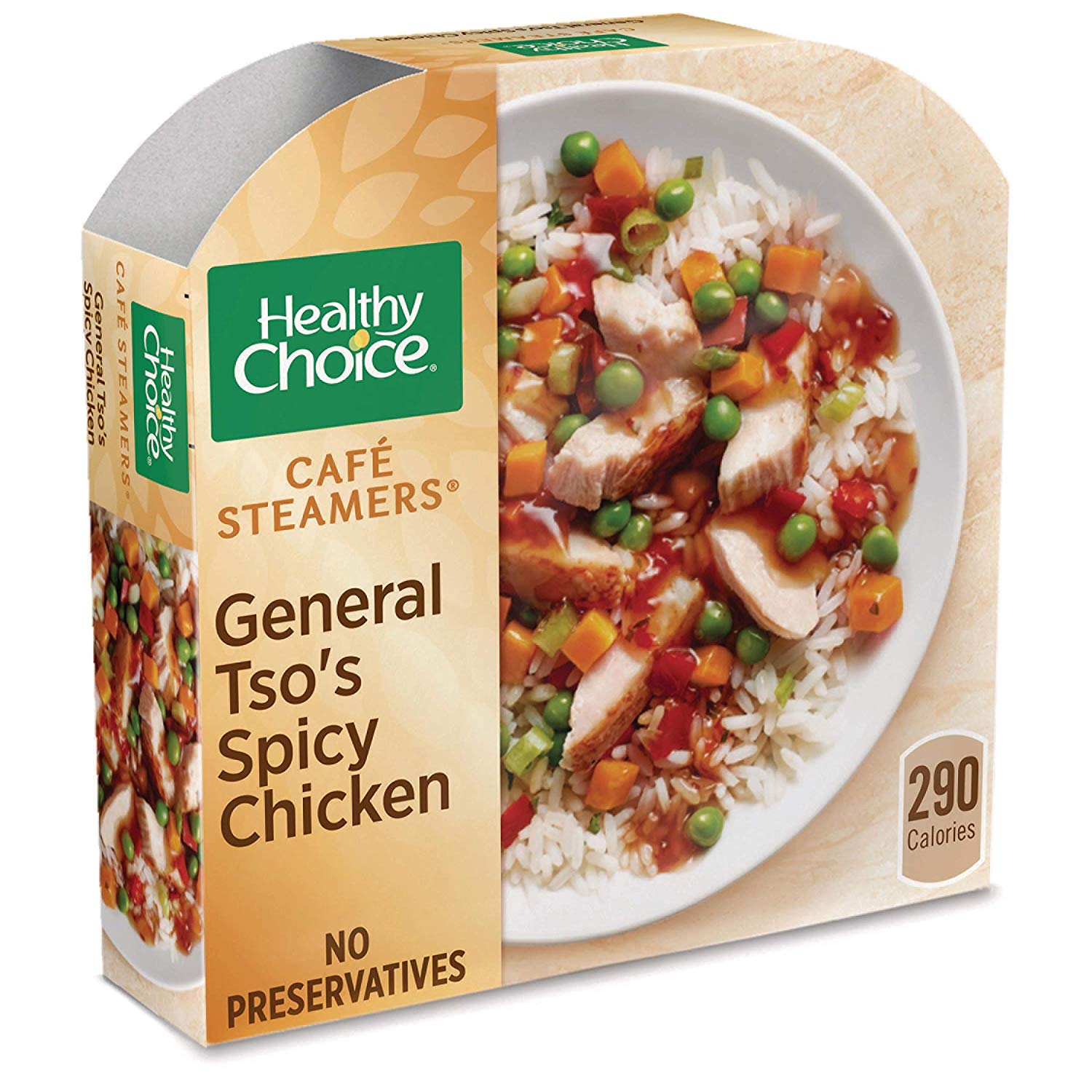 Healthy Choice Cafe Steamers Frozen Dinner General Tso's Spicy Chicken