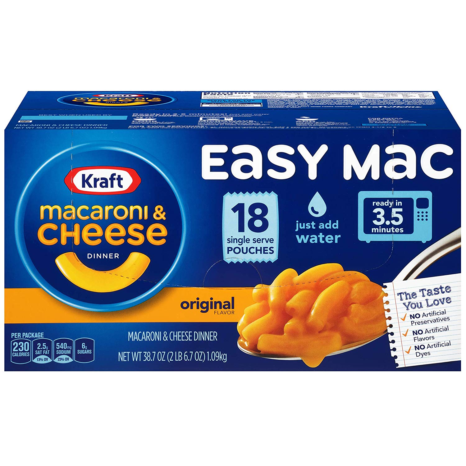 Kraft Easy Mac Original Flavor