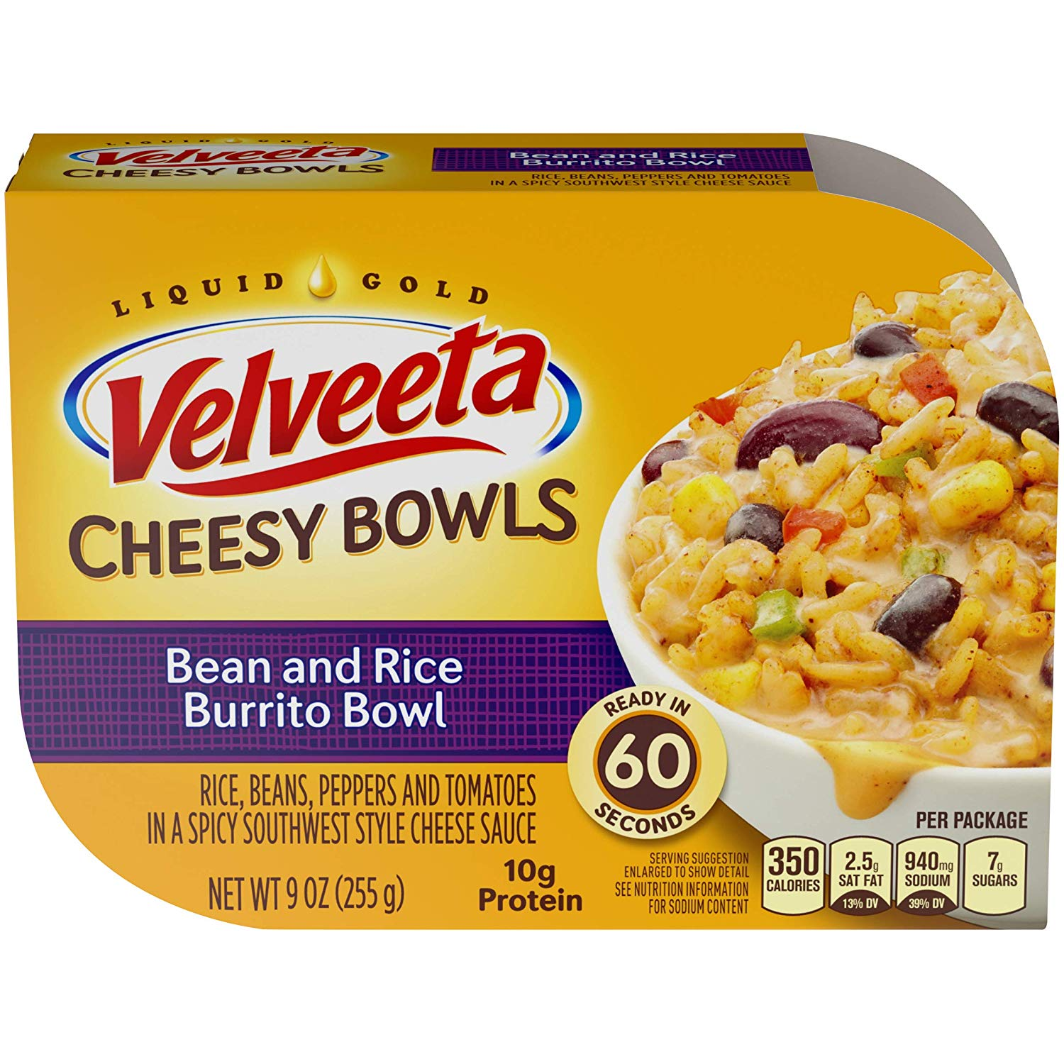 Velveeta Cheesy Bowls Bean & Rice Burrito Bowl