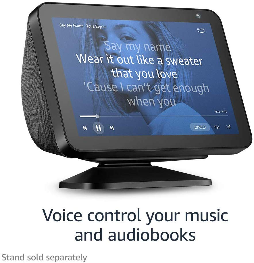 Echo Show 8 Voice Control Music and Audiobooks