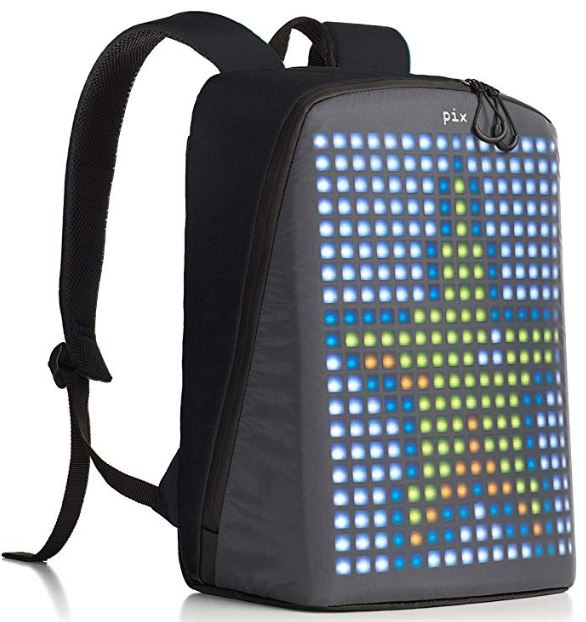 A LED backpack in black color