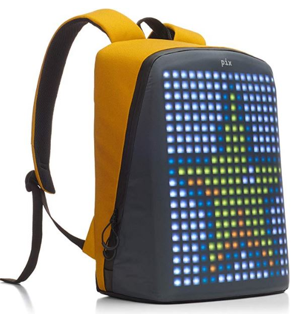 A LED backpack in yellow color
