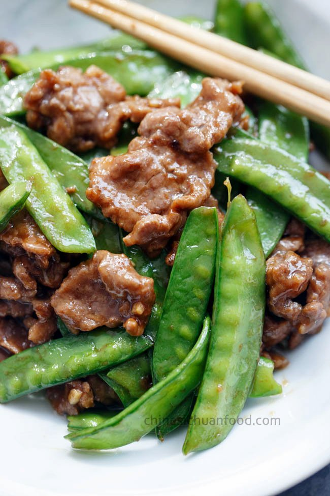 Healthy Beef With Snow Peas