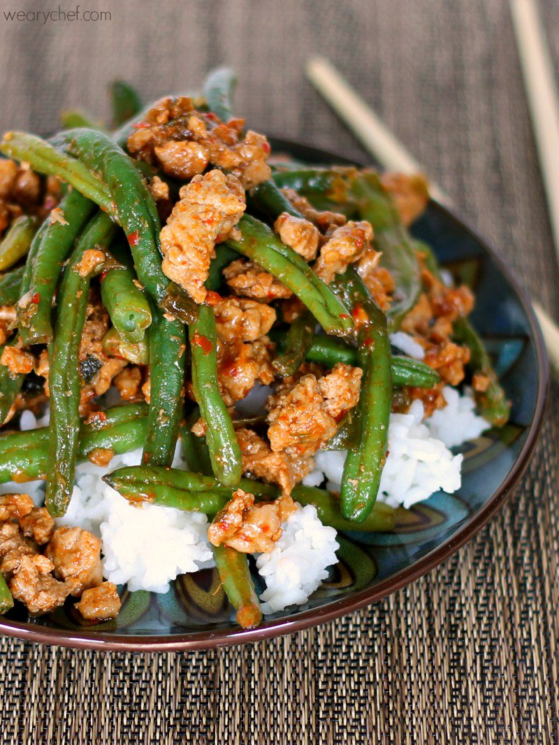 Healthy Ground Turkey and Green Beans