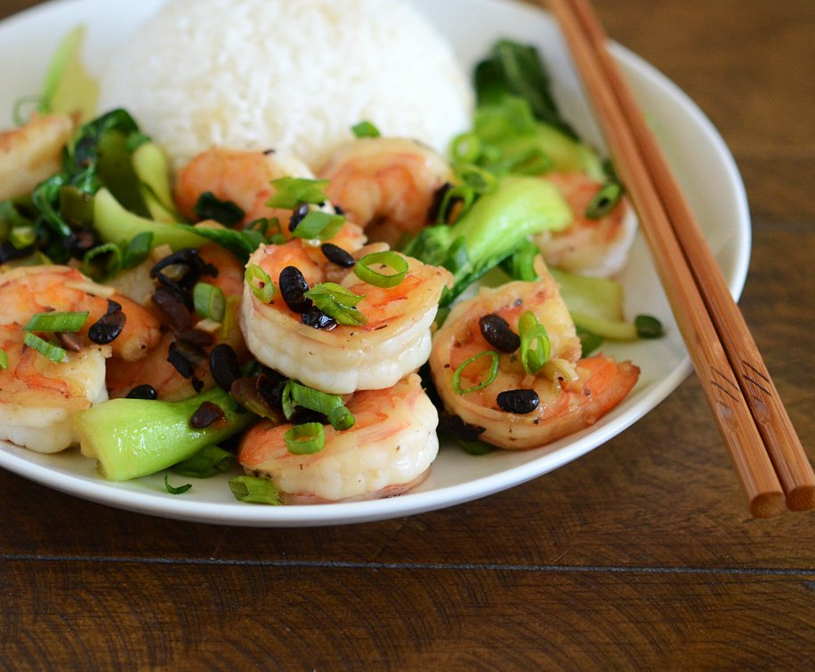 Healthy Shrimp and Vegetables With Black Bean Sauce