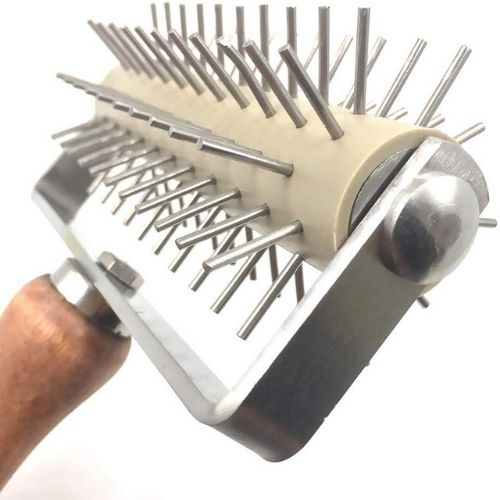 Pizza making dough roller with spikes product