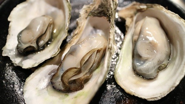 Oysters are a portion of food with high zinc content.