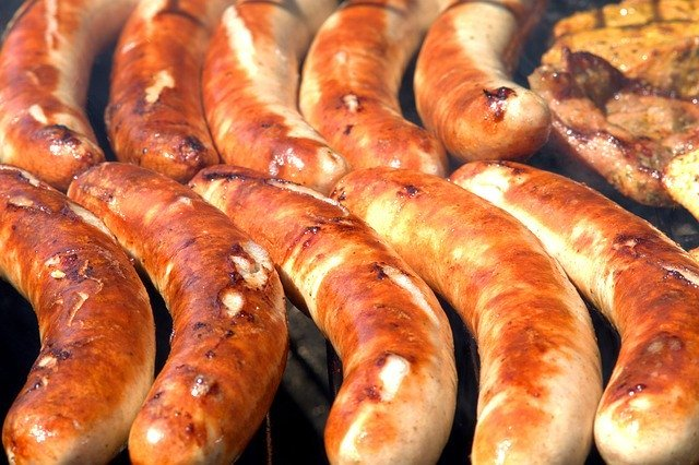 Sausages are high in amino acids.