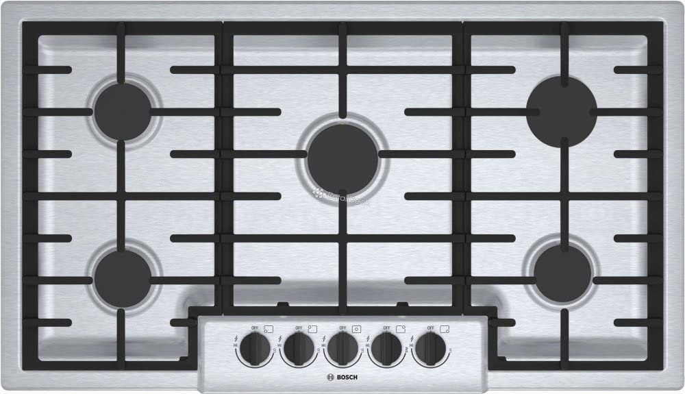 Bosch 500 Series 36 inch Stainless Steel 5 Burner Gas Cooktop