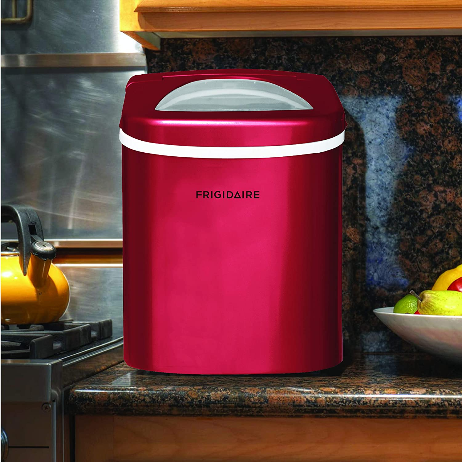 Compact Making Machine - Frigidaire EFIC102-RED