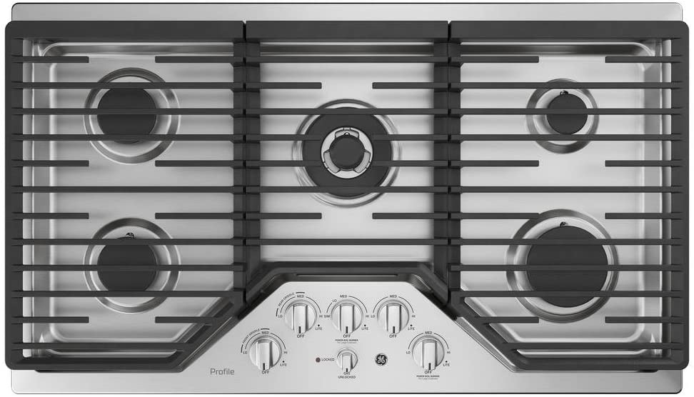 GE PGP9036SLSS 36 Inch Gas Cooktop