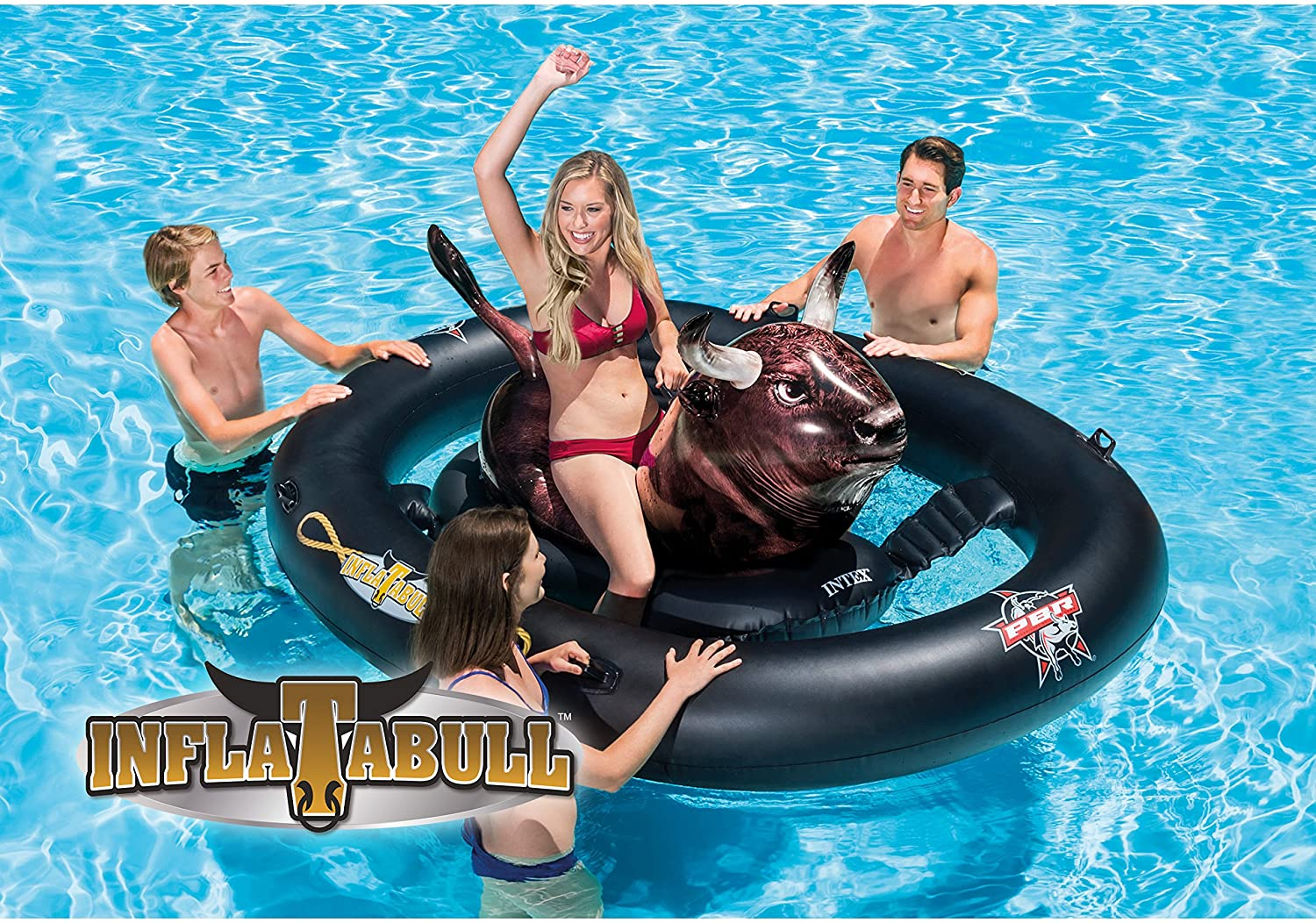 Intex Inflat-A-Bull Ride-On Pool Toy