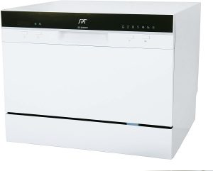 Portable Compact Countertop Dishwasher with Delay Start and Energy Star - SPT SD 2224DW