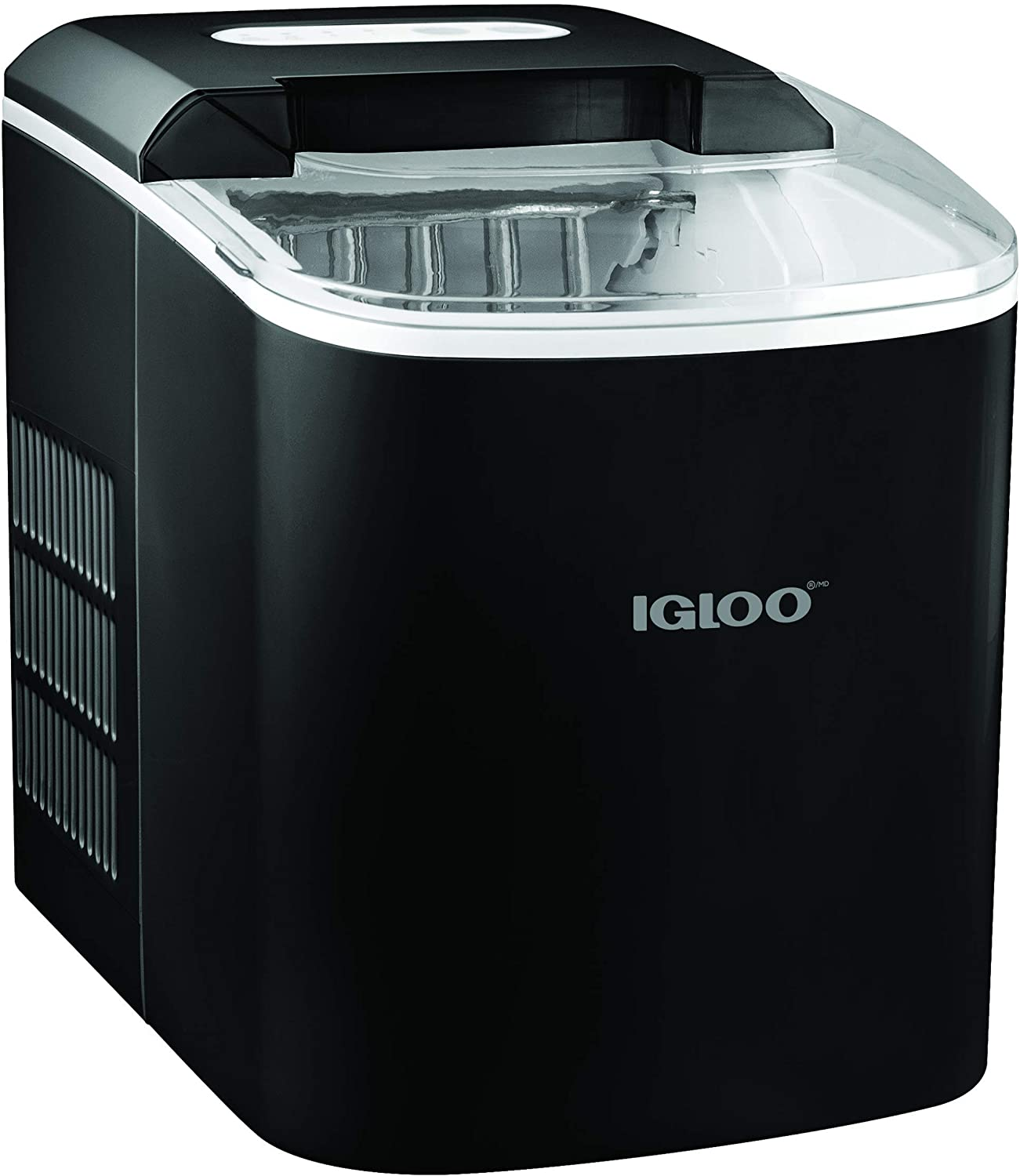 Portable Electric Countertop 26-Pound Automatic Ice Maker In Black - Igloo ICEB26BK