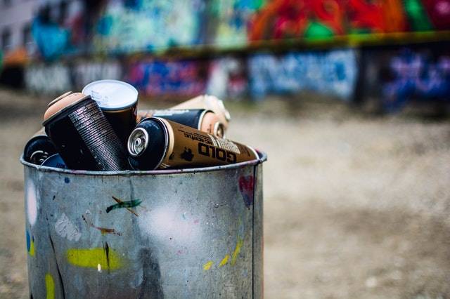 Disposal of spray cans correctly