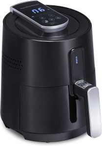 Hamilton Beach 2.6 Quart Digital Air Fryer Oven with 6 Presets Easy to Clean Nonstick Basket Black