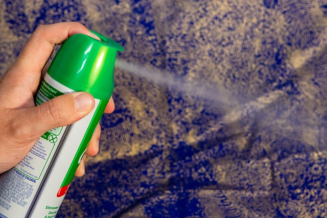 How to use the disinfectant spray