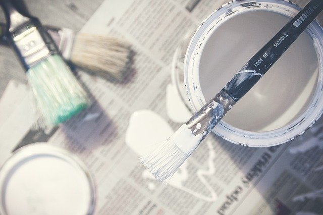 How do you clean paint brushes