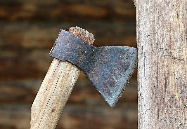 The right angle for grinding axe
