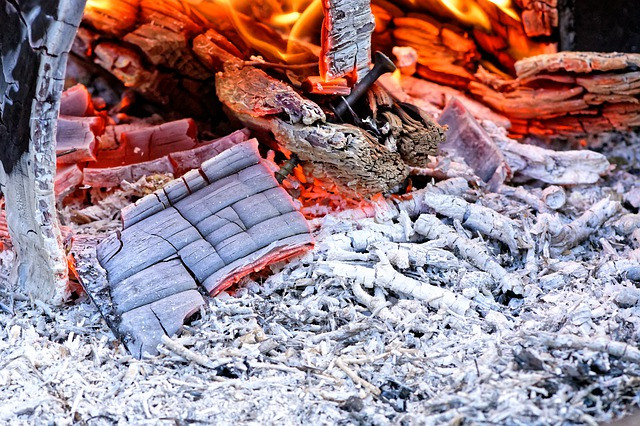 Using wood ash to polish copper